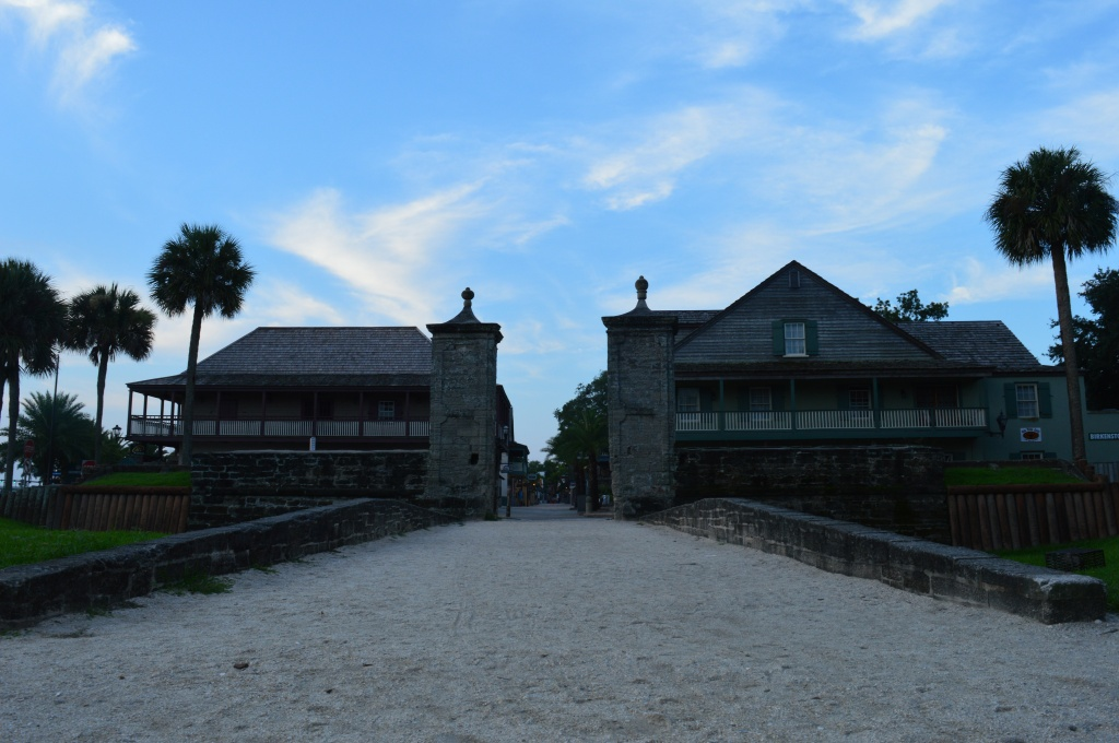 The gates at the entryway to old St Augustine