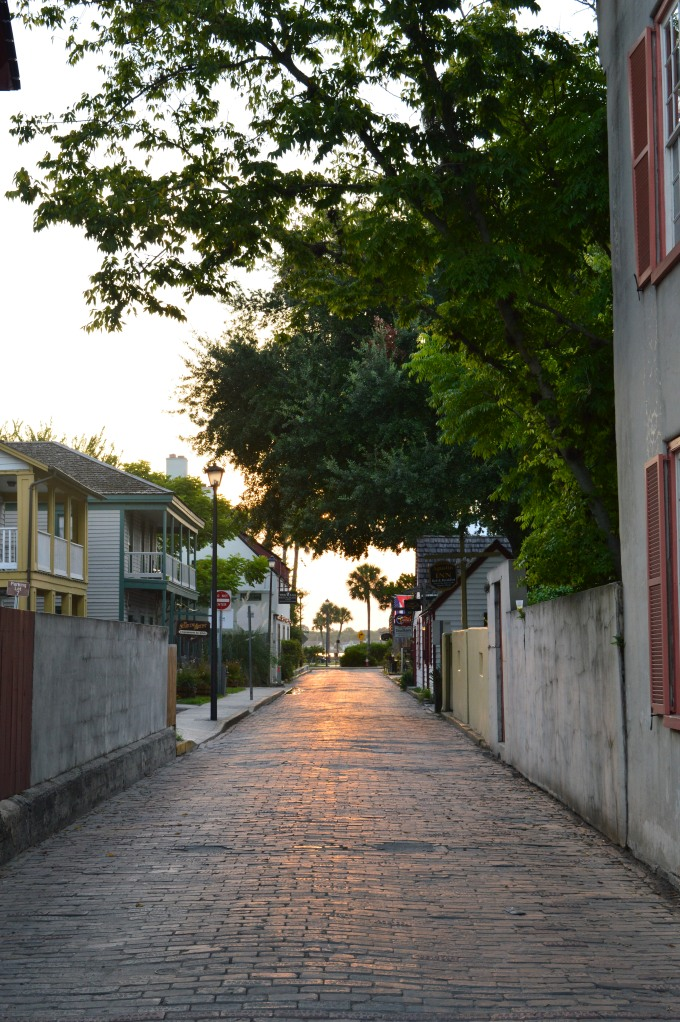 One of the small streets in old St Augustine