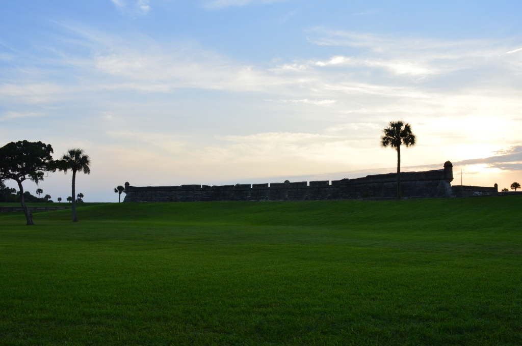 The fort at St Augustine, used to defend the town, complete with damage from cannonballs