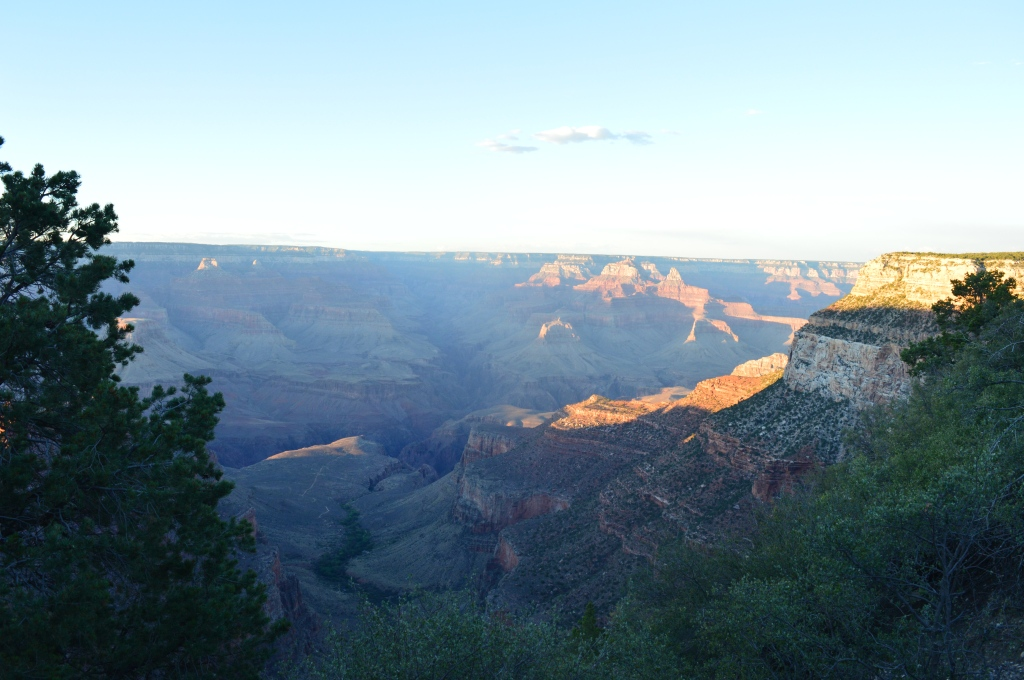 A very grand sunset: seen on the South rim