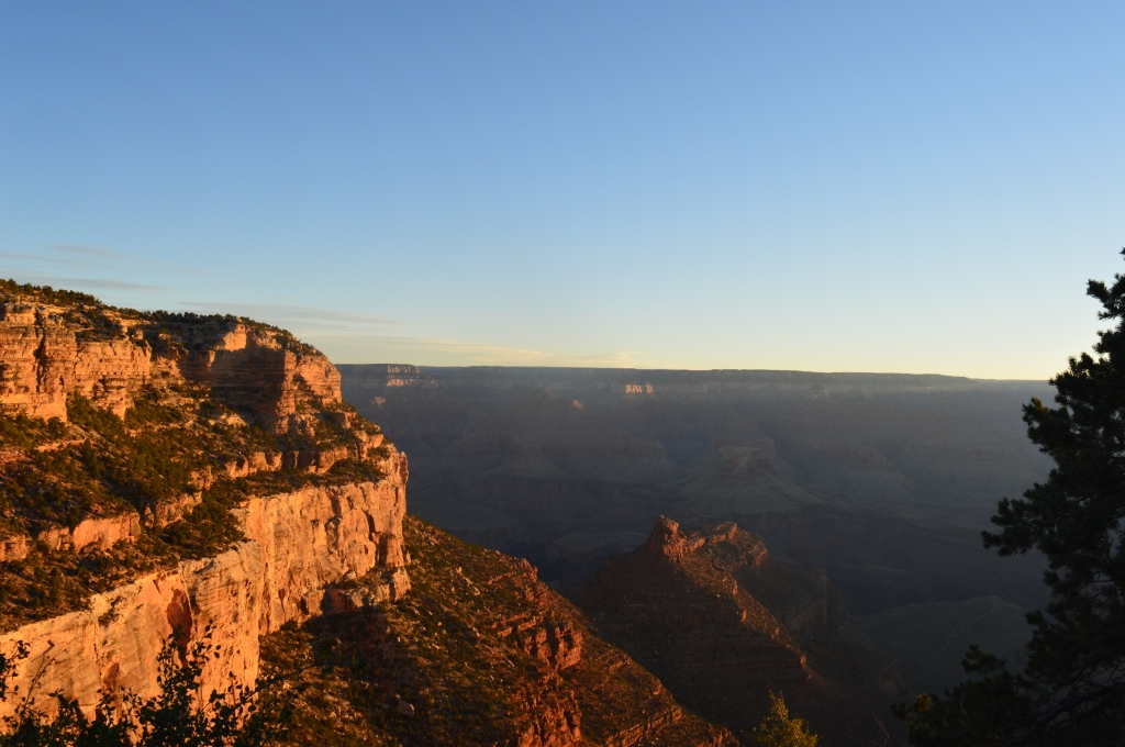 The South Rim of the Grand Canyon at sunrise