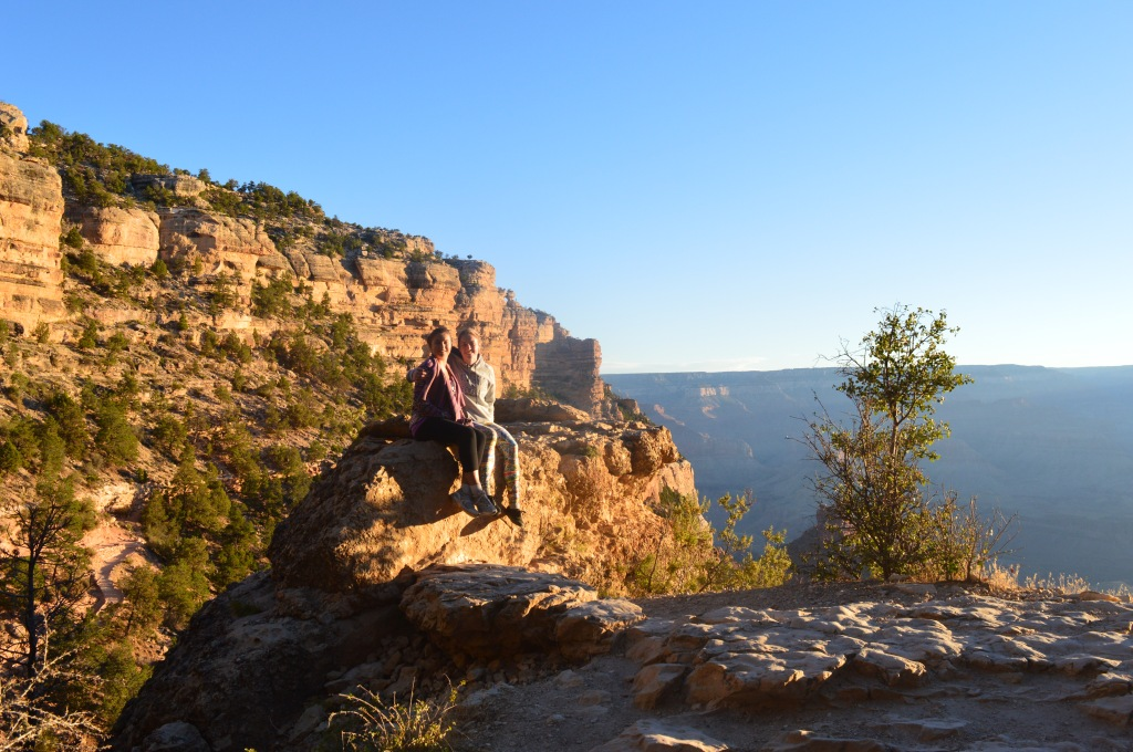 Anna and I on a pretty amazing hike