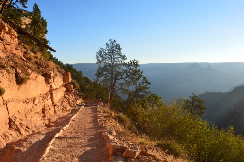 The hiking trail into the Grand Canyon