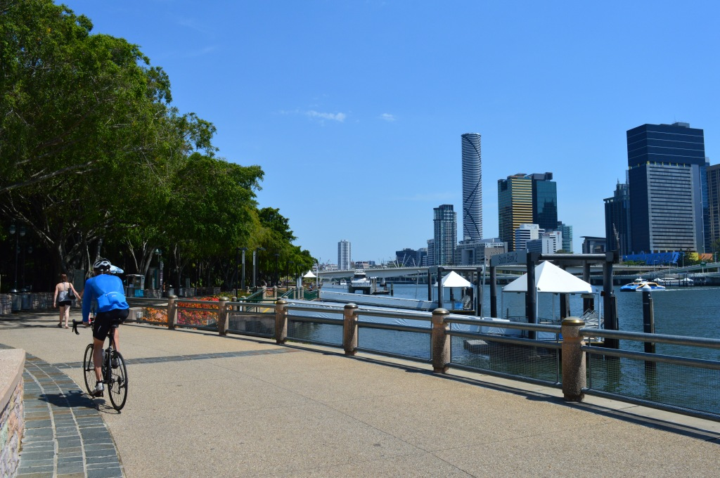 The usually bustling southbank walkway