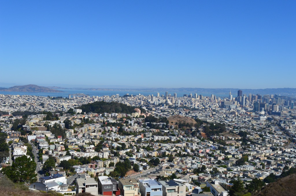 The view from the Twin Peaks