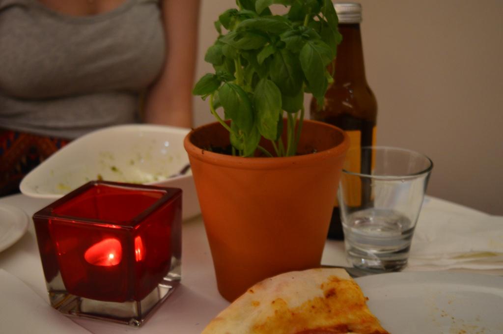 Fresh Basil on the Table