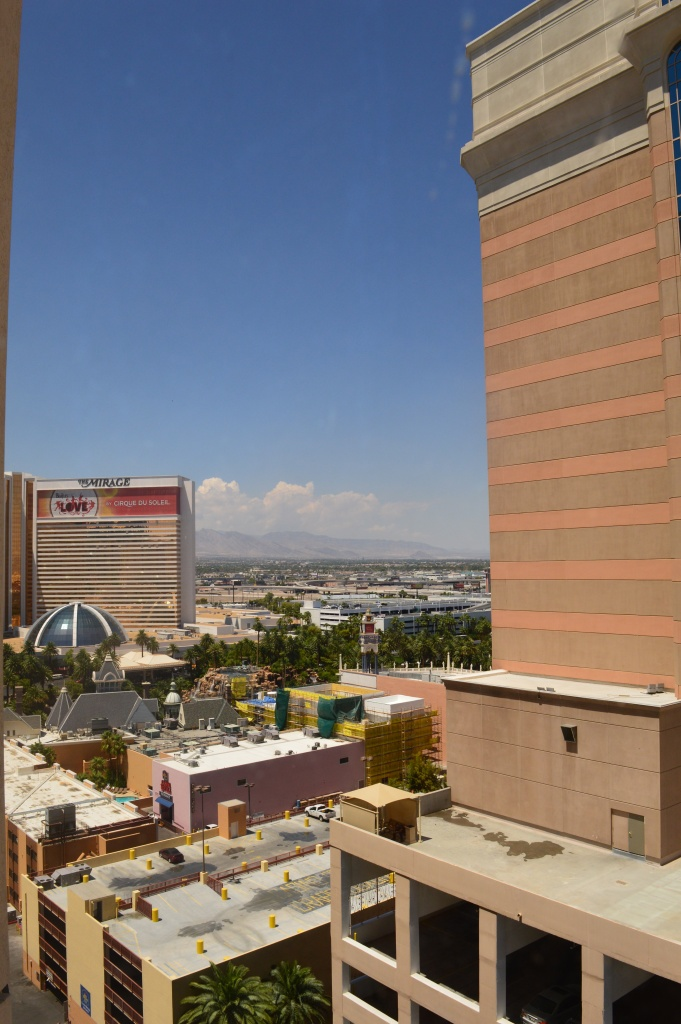 The view from our room at Hurrahs!